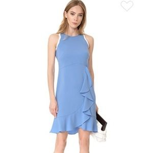 New SHOSHANNA pale light ruffle lace dress blue 10